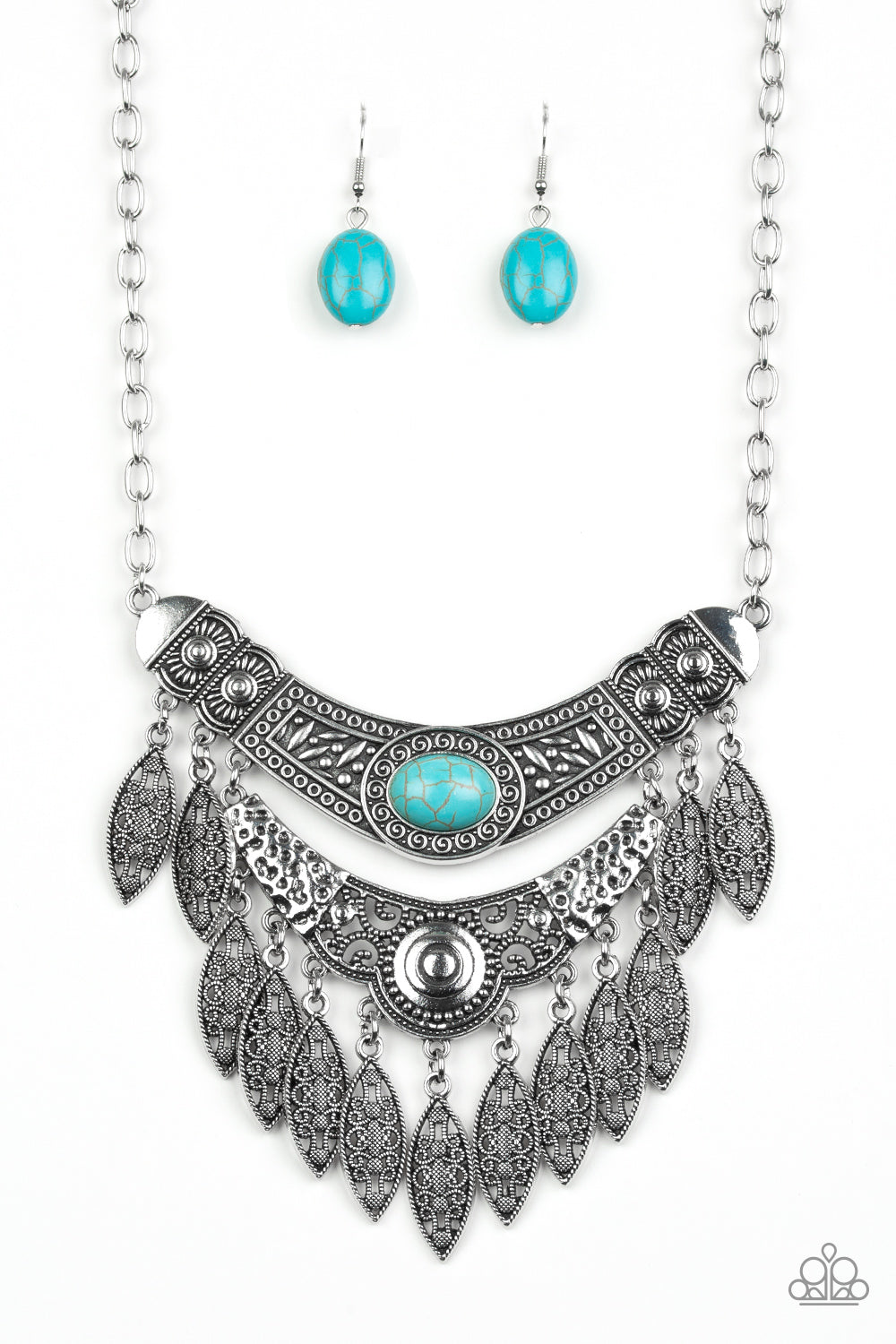 Island Queen - Blue Paparazzi Jewelry Necklace