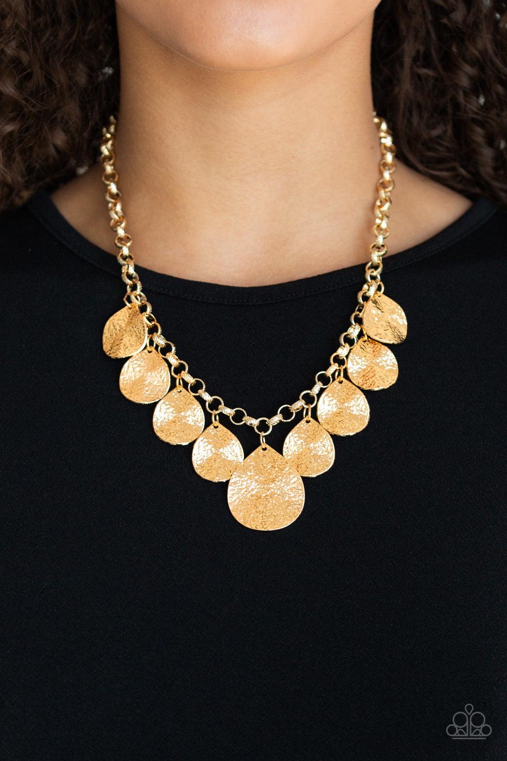 Texture Storm - Gold Paparazzi Jewelry Necklace