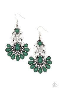 Paradise Parlor - Green Paparazzi Jewelry Earrings