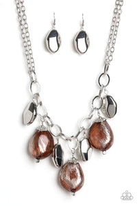 Looking Glass Glamorous - Brown Paparazzi Jewelry Necklace