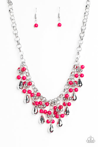 Traveling Trendsetter - Pink Paparazzi Jewelry Necklace