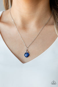 Romantic Razzle - Blue Paparazzi Jewelry Necklace
