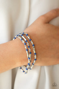 Mainstream Minimalist - Blue Paparazzi Jewelry Bracelet