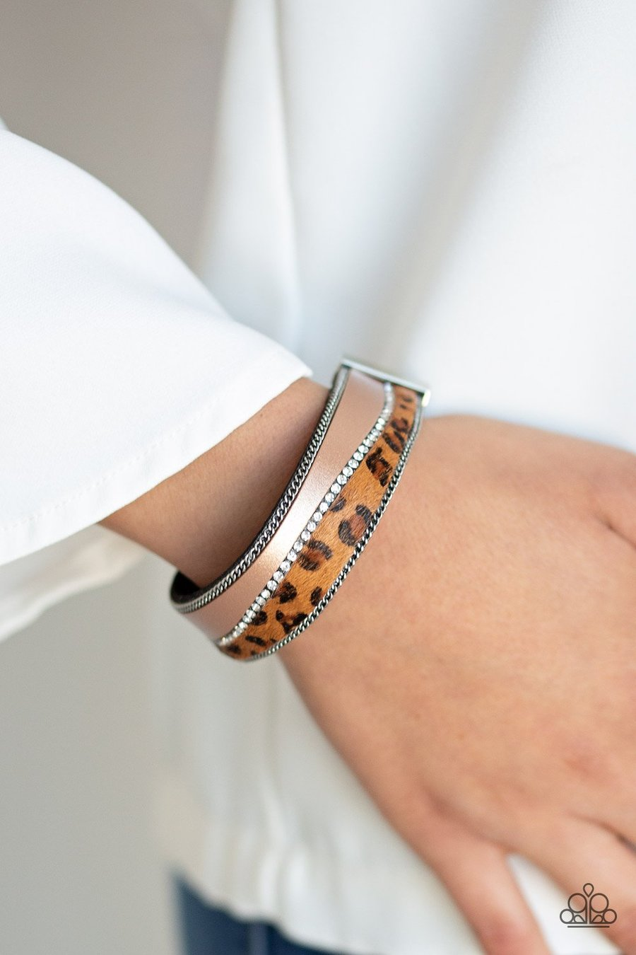 Flirtatiously Feline - Brown Paparazzi Jewelry Bracelet