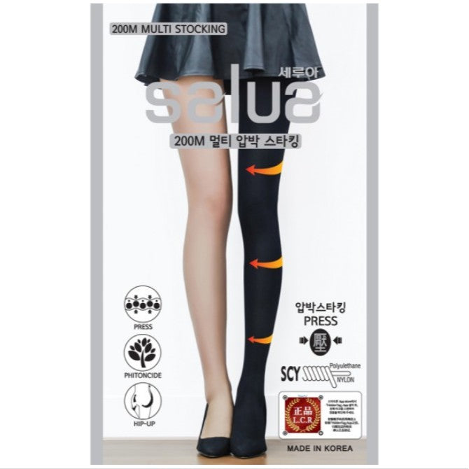SALUA Multi Hip-Up Stocking 200M (Black-1 pair)