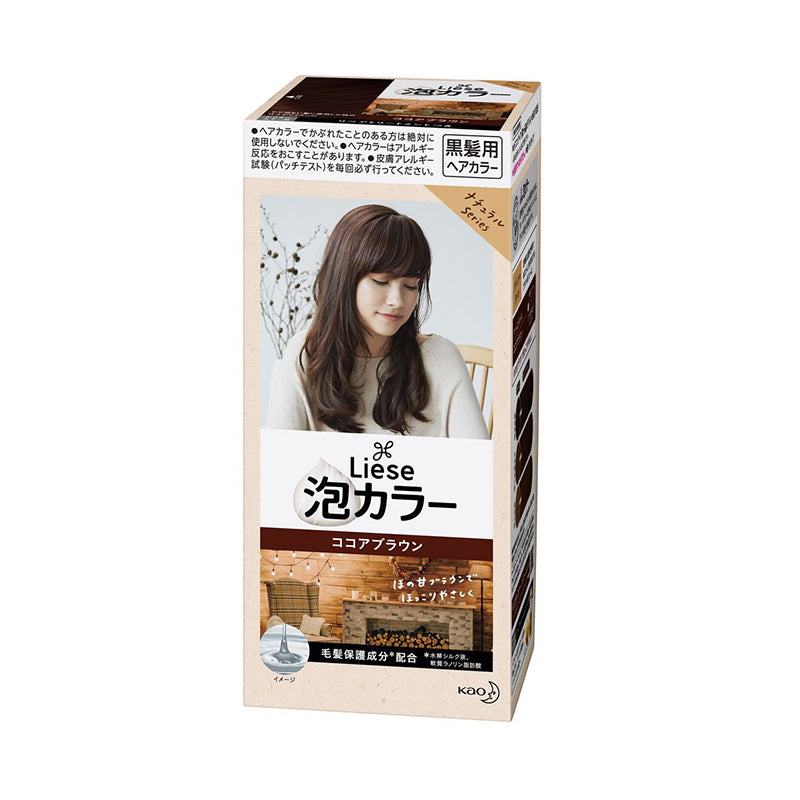 KAO LIESE Natural Series Creamy Bubble Hair Color (Black hair only) - 3 Colours