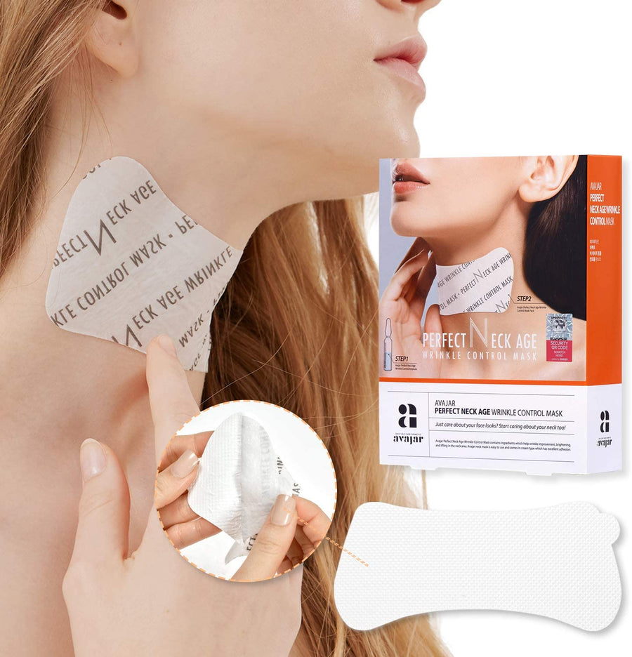 AVAJAR Perfect Neck Age Wrinkle Control Mask (5pcs/pack)