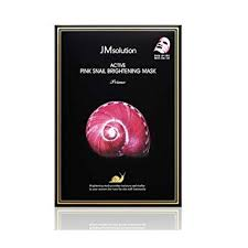 ((Free Gift Wrapping)) JM SOLUTION Active Pink Snail Brightening Mask (10pcs/box)