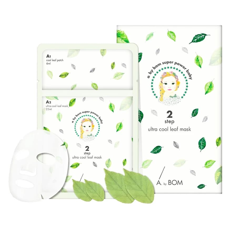 A.by.BOM 2 Step Ultra Cool Leaf Mask (10pcs/pack) - Lifecode Boutique