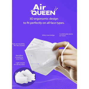 AIR QUEEN Nanofiber Filter Face Mask - 2PCS - Life & Style
