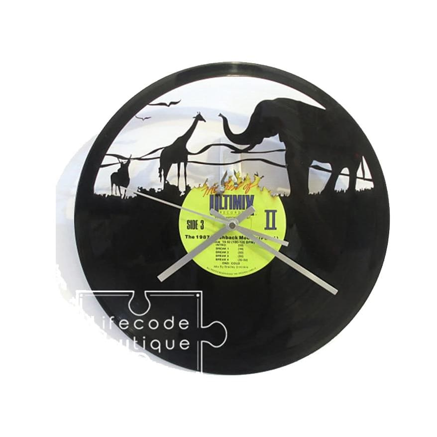 AYI ART Vinyl Record Clock Time Traveler 1888- Adventures in Life - Lifecode Boutique