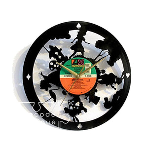 AYI ART Vinyl Record Clock Time Traveler 1888 - Alice In Wonderland - Lifecode Boutique