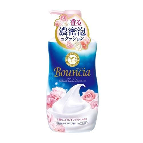 COW BOUNCIA Body Wash Relaxing Elegant Rose (550ml) - Beauty