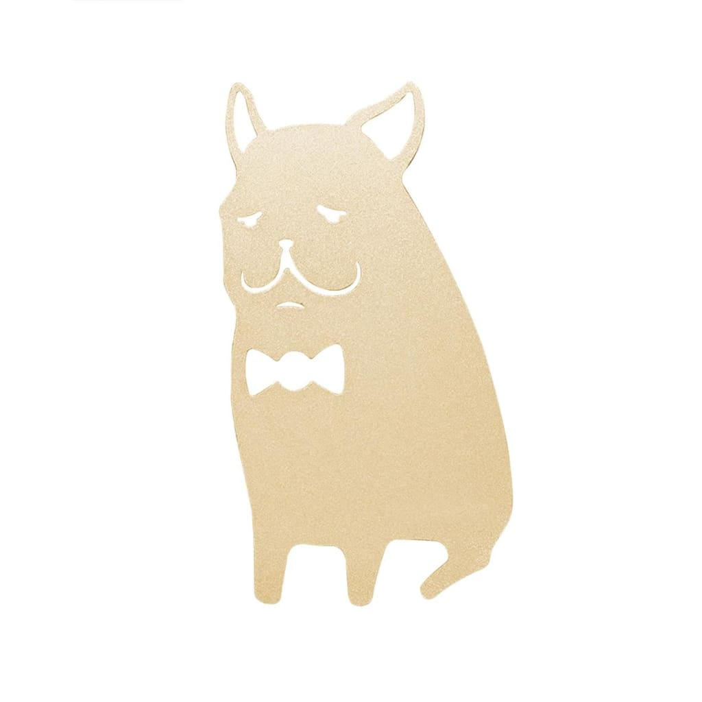 Desk+1 Bulldog Bookmark (Gold/Pink) - Lifecode Boutique