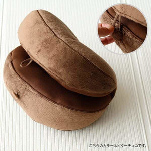 Make Hips Bagel Cushion - Brown - Life & Style