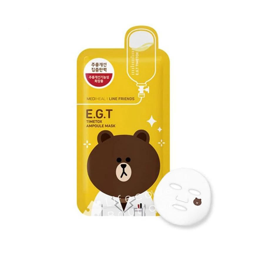 MEDIHEAL Line Friends E.G.T Timetox Ampoule Mask (10pcs/box) - Lifecode Boutique