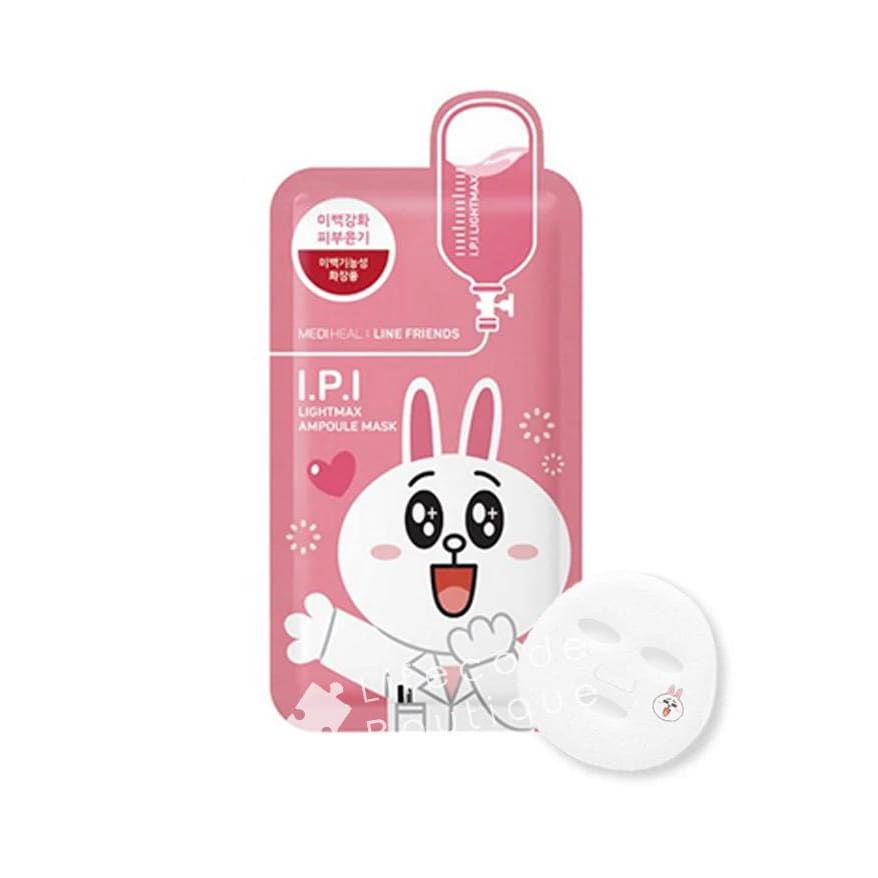 MEDIHEAL Line Friends I.P.I Lightmax Ampoule Mask (10pcs/box) - Lifecode Boutique
