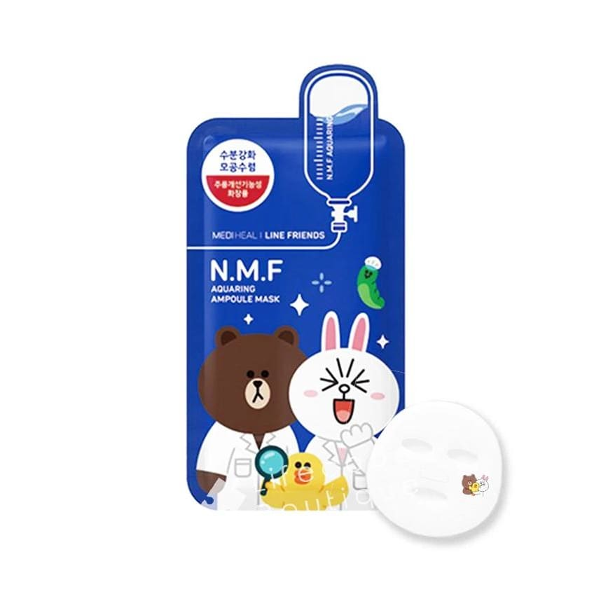 MEDIHEAL Line Friends N.M.F Aquaring Ampoule Mask (10pcs/box) - Lifecode Boutique