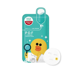 MEDIHEAL Line Friends P.D.F AC-Dressing Ampoule Mask (10pcs/box) - Lifecode Boutique