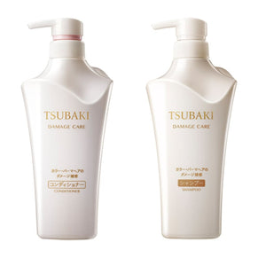 SHISEIDO TSUBAKI Shampoo/Conditioner - White (Damge Care) 500ml - Lifecode Boutique