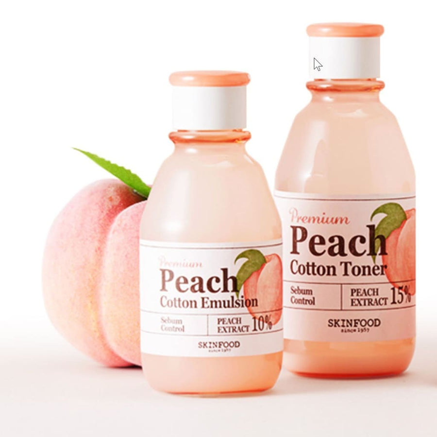 SKINFOOD Premium Peach Cotton Toner (175ml) - Lifecode Boutique