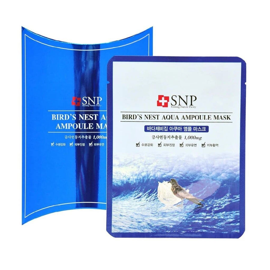 SNP Bird's Nest Aqua Ampoule Mask (10+1pcs/box) - Lifecode Boutique