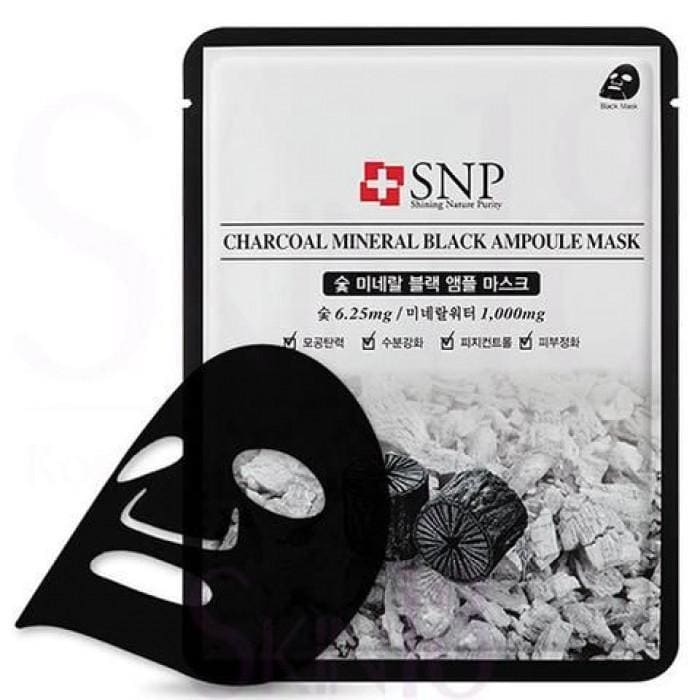 SNP Charcoal Mineral Black Ampoule Mask (10pcs / box) -