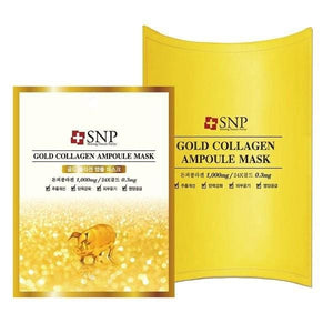 SNP Gold Collagen Ampoule Mask (10pcs / box) - Beauty