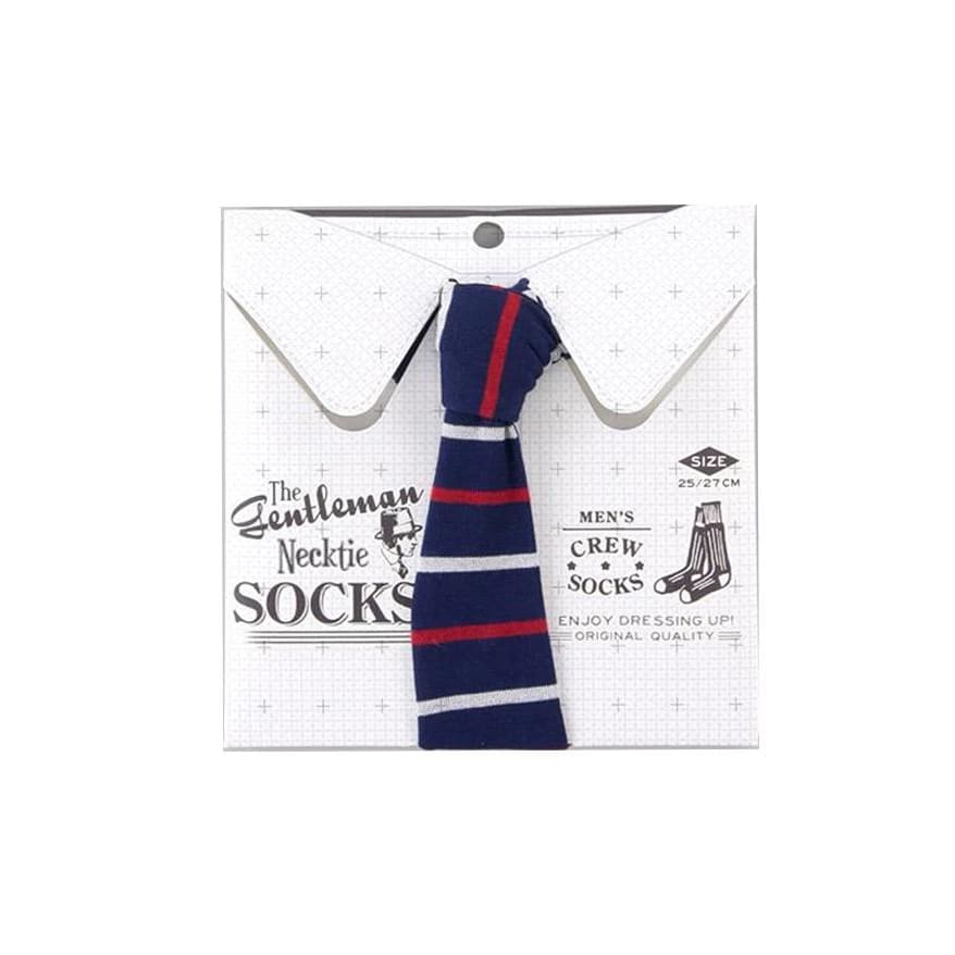 SUKENO THE GENTLEMAN NECKTIE SOCKS-BORDER - Lifecode Boutique