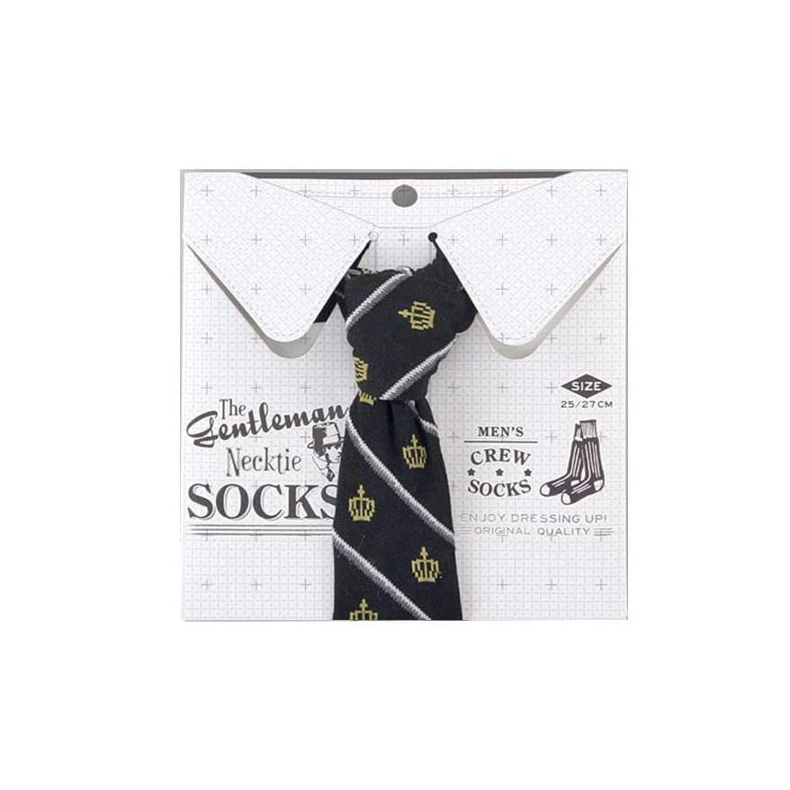 SUKENO THE GENTLEMAN NECKTIE SOCKS-CROWN - Lifecode Boutique