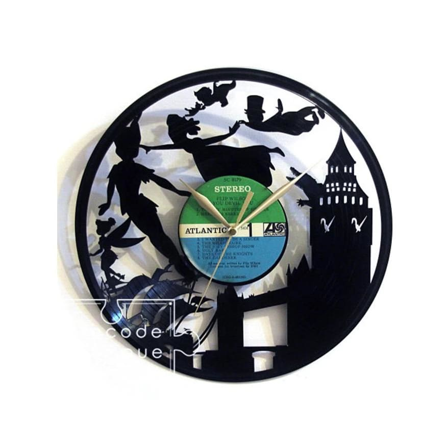 Time Traveler 1888 Vinyl Record Clock - Peter Pan Chase Your Dream - Lifecode Boutique