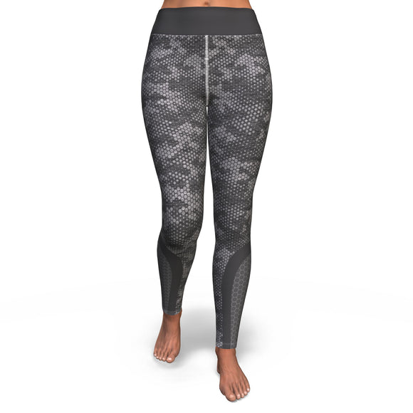 Yoga Pants All-Over 6th Design Hexagon Camo 2