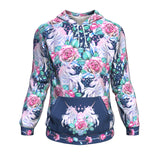 Hoodie All-Over 14th design Unicorn Roses