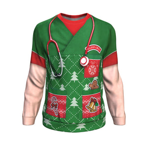 Sweatshirt Christmas All-Over 13th Don't Be Tachy - Caucasian