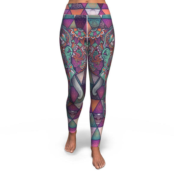 Yoga Pants All-Over 3rd Design Mandala Elephant