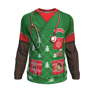Sweatshirt Christmas All-Over 13th Don't Be Tachy - African-American