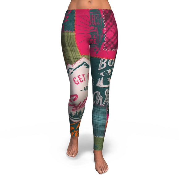 Legging All-Over 27th Design Camping Patchwork #2