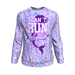 Sweatshirt Christmas All-Over 22th I Can't Run