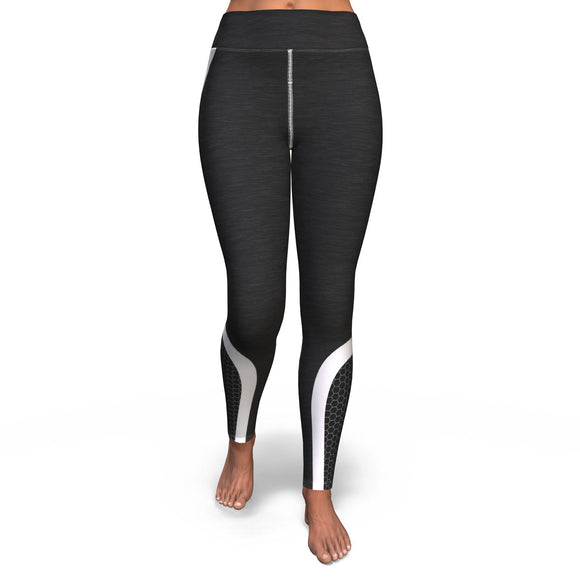 Yoga Pants All-Over 10th Design Hexagon 3