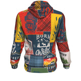 Hoodie All-Over 16th design Camping Patchwork #1
