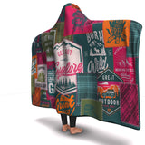 Hooded Blanket All-Over 26th  Design Camping Patchwork #2