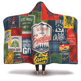 Hooded Blanket All-Over 25th  Design Camping Patchwork #1