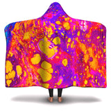 Hooded Blanket All-Over 1st  Design Acid Paint 1