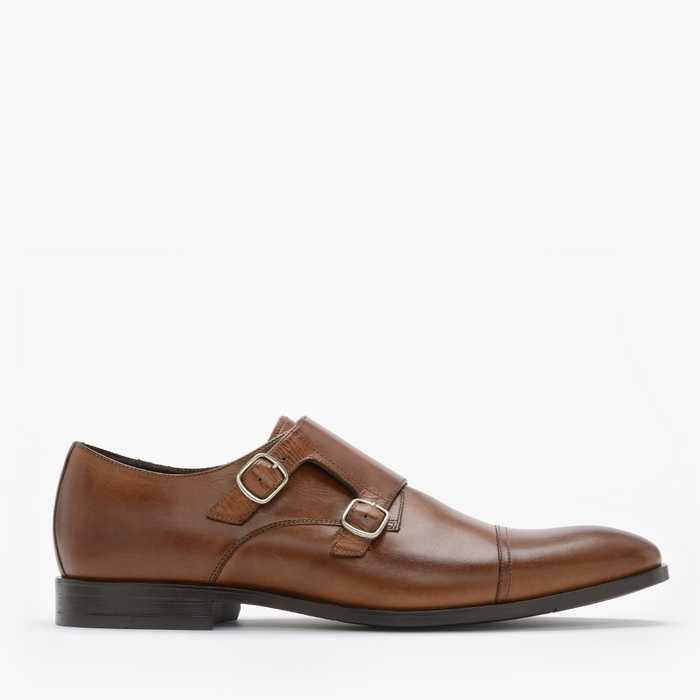 MONK SHOES WITH DECORATIVE STITCH SLAVO