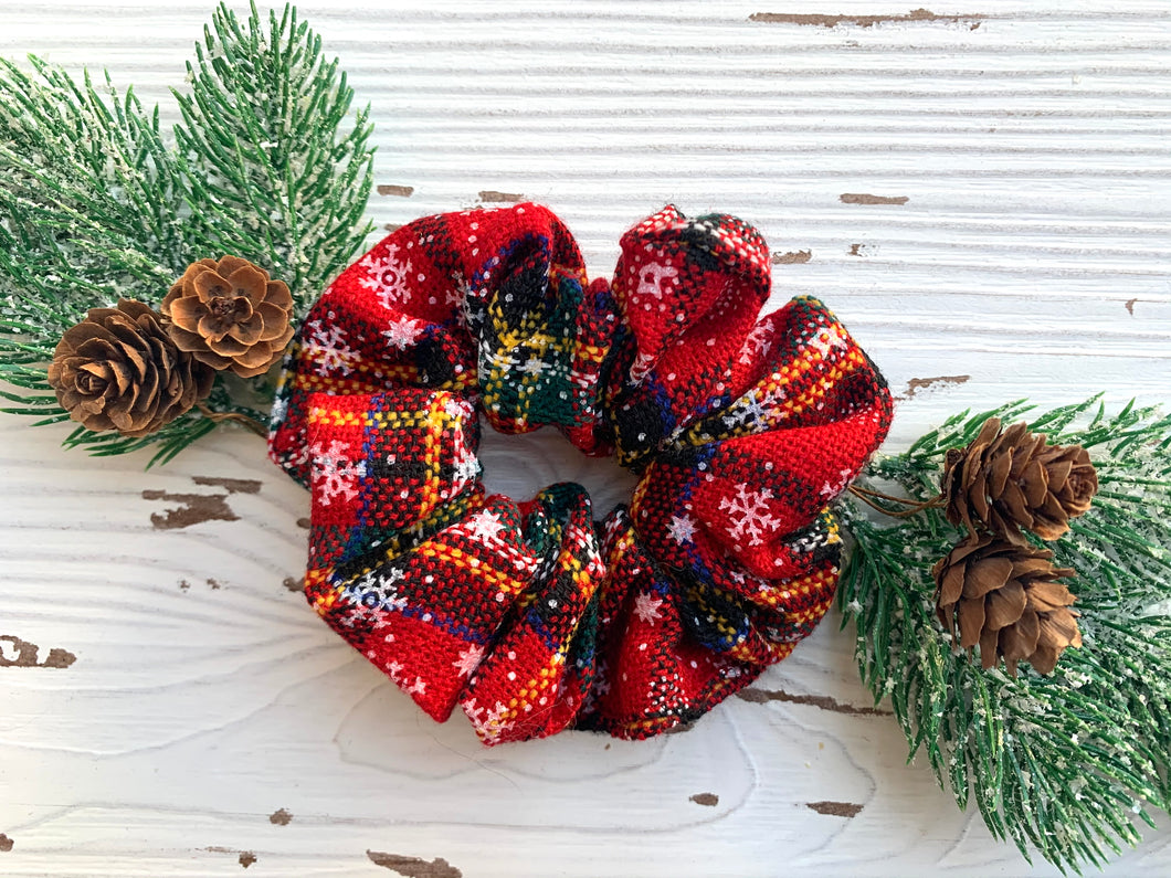Christmas Sweater Plaid Scrunchie