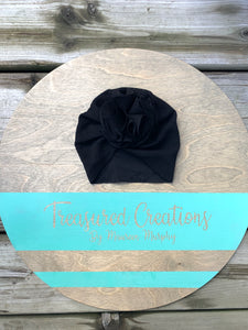 Infant Puff Hat Black
