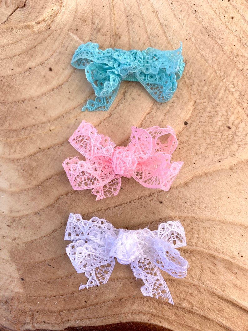 Baby Lace Snap Clips