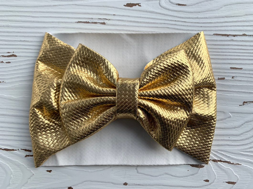 Gold Bow Headwrap