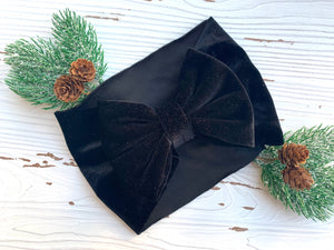 Black Velvet Headwrap