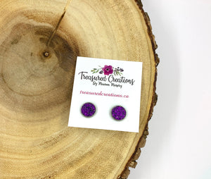 Purple Studs 10mm
